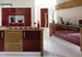 Fusion Burgandy & American Walnut Fitted Kitchen